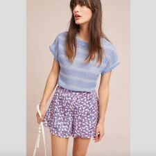 NWT Anthropologie ett:twa Purple Simone Tiered Shorts Petite XS