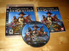 SID MEIER'S CIVILIZATION REVOLUTION Playstation 3 PS3 console game COMPLETE