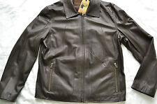 Comstock & Co  Men's Leather Jacket  Brand new Brown Size 42