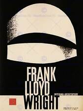 ADVERT EXHIBITION CULTURAL FRANK LLOYD WRIGHT ARCHITECTURE POLAND PRINT BB2260B