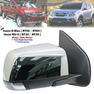 Chrome Right Exterior Side Mirror For Isuzu D-Max TFR TFS Pickup MU-X 2012-2020