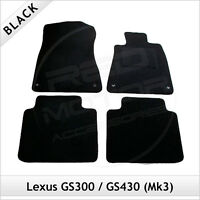 Lexus GS300 GS430 Mk3 2005-2012 Tailored Carpet Car Floor Mats BLACK