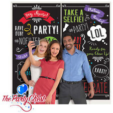 PARTY SELFIE PHOTO BACKDROP SCENE SETTER Birthday Wedding Party Wall Decoration