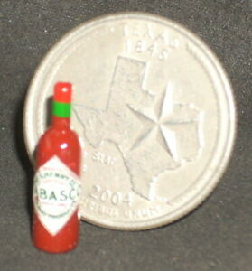 Tabasco Pepper Sauce Bottle Dollhouse Miniature 1:12 Tex Mex Food Meals 54016