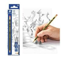 Staedtler Noris HB2 Pencil - Pack Of 12 PENCIL | RUBBER TIP | Smooth writing