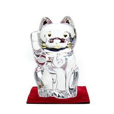 Baccarat Maneki Neko Lucky Cat crystal Figure object Clear Type 10cm
