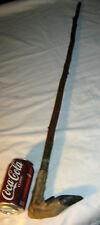 ANTIQUE DEER STAG WOOD WALKING STICK CANE HUNTING ANTLER GUN HOOF COUNTRY ART