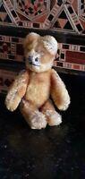 Antique Schuco Janus bear, metal body golden blonde