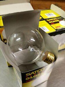 6 Satco S3447 Bulbs 25W Clear G25 Incandescent Globe Light 25G25 E26 Medium 120V