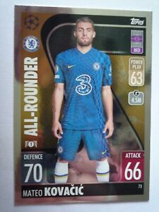TOPPS  MATCH ATTAX 2021/2022 CHELSEA KOVACIC ALL-ROUNDER CARD COMB P&P