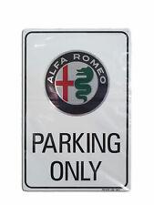 ALFA ROMEO PARKING ONLY Targa Cartello Parcheggio Auto