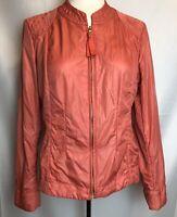 Zenergy Chicos Women's Pink Lightweight Jacket Zip Up Windbreaker Sz 1