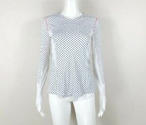 LULULEMON Runbeam Long Sleeve Top Shirt Mod Dot Size 6 - NTSF