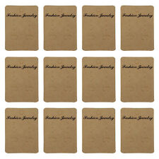 100PCS Earrings Jewelry Display Paper Cards Earrings Hanging Holder Packing