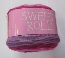 PREMIER YARNS~Lot 6924~RASPBERRY SWIRL Sweet Roll Medium 4 Yarn