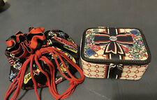 Lot Of 2 Brighton Jewelry Travel Cases Pouch Storage Scribbles & Be Beautiful