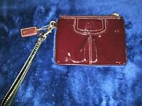 Coach Wristlet Small Zip Top Change Purse Liquid Gloss