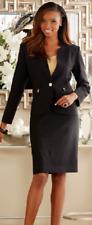 plus sz 16W Black Skirt Suit church career wear by Ashro new