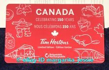 TIM HORTONS GIFT CARD CANADA CELEBRATING 150 YEARS LTD ED. NO VALUE NEW FD56632