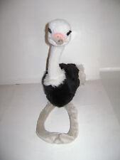 "FAO SCHWARZ TOYS R US 18"" OSTRICH BIG BIRD BLACK WHITE STUFFED PLUSH ANIMAL RARE"