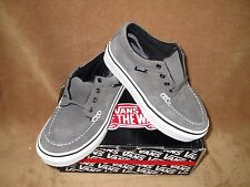 NEW VANS 106 MOC SKATE SHOE SUEDE PEWTER YOUTH 11.5Y
