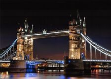 A4 Photo Print, Tower Bridge at Night, London on 230gsm Archival Matte 43A