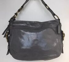 eba85ea9de29 Coach 12735 Zoe Hobo Patent Leather Color Gray Gold Hardware Size Medium