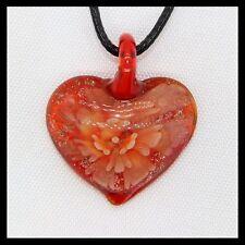 Fashion Women's Love lampwork Murano art glass beaded pendant necklace #M87