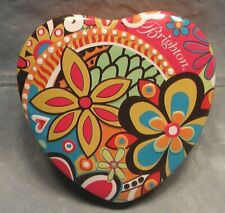 Valentine Heart Shaped Tin Canister Brighton Jewelry Storage Container + Insert