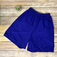 VTG Reebok Purple Elastic Waist Baggy Shorts 90s Made in USA Womens Large Youth?