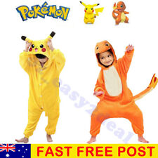 Halloween Kids Pajamas Cosplay Costume Pokemon Pikachu Jump Suit Dragon Pyjamas