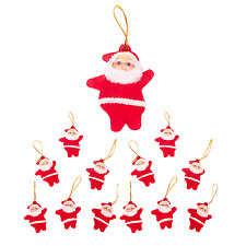 Festive Santa Vintage Christmas Tree Decorations - Red (12 Pack)