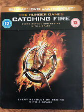 JENNIFER LAWRENCE Hunger Games Catching A Fuego 2013GB blu-ray caja metálica