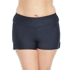 66b77c65561dd St John s Bay Plus Black Boyshort Swim Bottom 20w