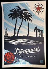 SHEPARD FAIREY ♦ LIFEGUARD NOT ♦ GROSSE LITHOGRAPHIE SIGNIERT OBEY GIANT MINT