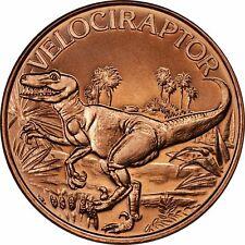 1 oz Copper Round - Velociraptor