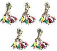 WGGE WG-026 50 Pieces and 5 Colors Test Lead Set & Alligator Clips (20.5 inches)