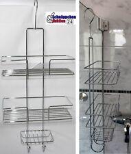 FSM® XL Chrom Duschregal Bad Regal Duschablage Duschkorb Hängeregal ohne Bohren