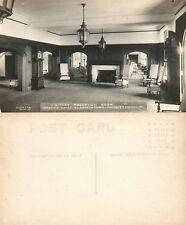 Elizabethtown Lancaster Masonic Homes Reception Room Antique Photo Postcard Rppc