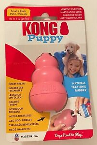 Puppy Kong Pink - Small Natural Teething Rubber Dog Toy / Treat - Brand New