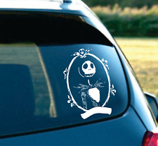 """Jack nightmare before Christmas car SUV laptop decal sticker 6"""" White"""