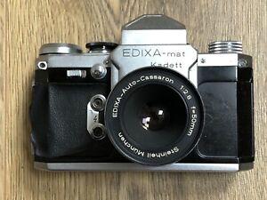 Edixa-Mat Kadett Film SLR Camera & Steinheill Cassaron 50mm f2.8 M42 Lens DEFECT