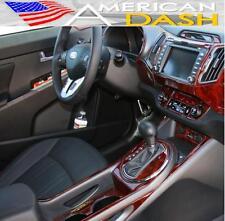 2011 2012 2013 INTERIOR BURL WOOD DASH TRIM KIT SET FOR KIA SPORTAGE LX EX SX