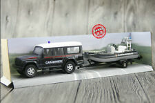 1:43 Iveco Jeep + Assault Boat Alloy Model Set Police / Fire Truck