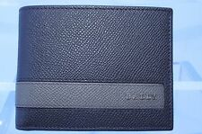 New Bally Men's Wallet Brown Credit Card Case CC Holder Leather