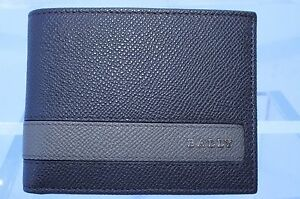 New Bally Men's Wallet Brown Credit Card Holder Leather