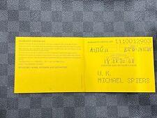 Breitling Chronomat Evolution Automatic A1335611 Warranty Booklet 18/08/2008 UK