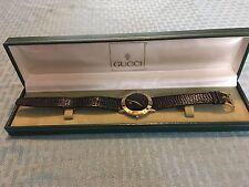 Authentic Gucci 3000M Black Dial Gold Plated 33mm Quartz Men's Dress Wrist Watch
