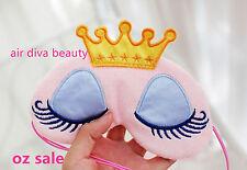 Women Lady Girls Pink Crown Duckling Costume Party Fancy Princess Eye Face Mask