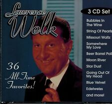 LAWRENCE WELK - 36-ALL TIME GREATEST HITS -BUBBLES IN THE WINE- MINT 3CD BOX SET